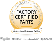 Whirlpool Authorized Internet Seller - Factory Certified Parts